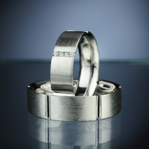 Platinum Wedding Rings model nr. SN6