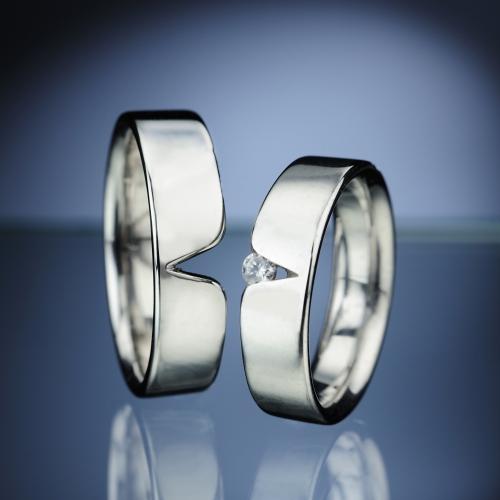 Platinum Wedding Rings with Diamond model nr. SN11