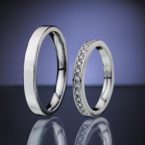 Platinum Wedding Rings with Diamonds model nr. SN82