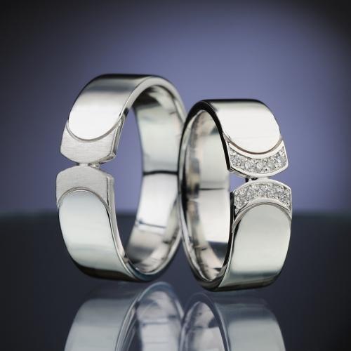 Platinum Wedding Rings with Diamonds model nr. SN87