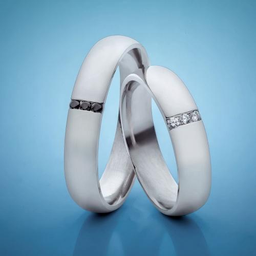 Platinum Wedding Rings with Diamonds model nr. SN18