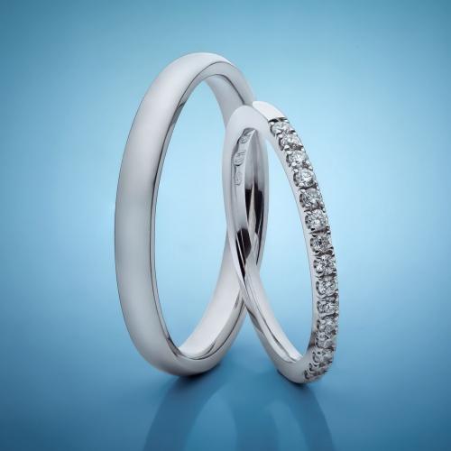 Platinum Wedding Rings with Diamonds model nr. SN90