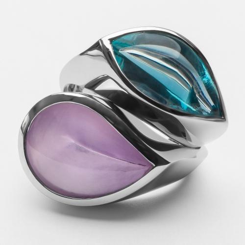 Rings with Aquamarine