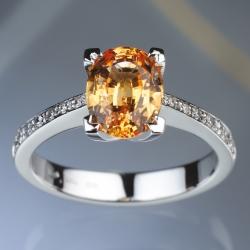 Ring - Orange Sapphire