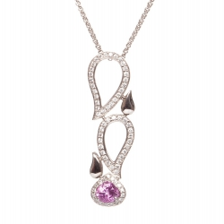 Necklace with Pink Sapphire