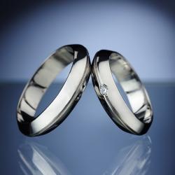 Platinum Wedding Rings with Diamond model nr. SN9