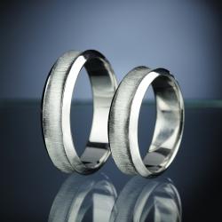 Platinum Wedding Rings with Diamond model nr. SN10