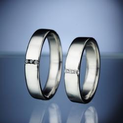 Platinum Wedding Rings with Diamond model nr. SN21