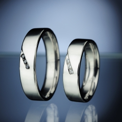 Platinom Wedding Rings with Daimonds model nr. SN80