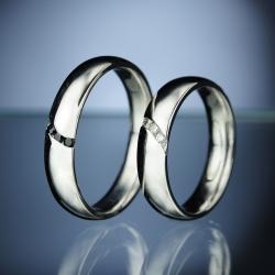 Platinum Wedding Rings with Diamonds model nr. SN81