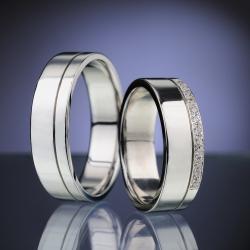 Platinum Wedding Rings with Diamonds model nr. SN83
