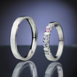Platinum Wedding Rings with Diamonds model nr. SN84