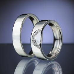 Platinum Wedding Rings with Diamonds model nr. SN86