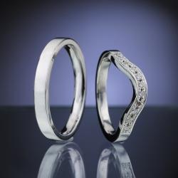 Platinum Wedding Rings with Diamonds model nr. SN88