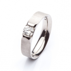 Platinum Engagement Ring with Diamond model nr. 0114