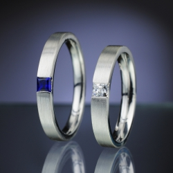 Wedding Rings with Diamond and Sapphire model nr. SN79