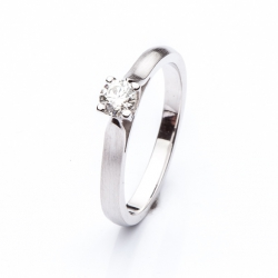 Platinum Engagement Ring with Diamond model nr. 0120