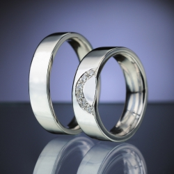 Wedding Rings with Diamonds model nr. SN86