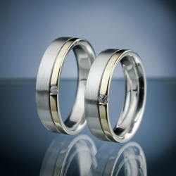 Wedding Rings with Diamonds model nr. SN53