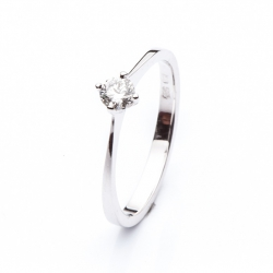 Platinum Engagement Ring with Diamond model nr. 0121b