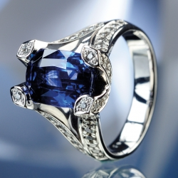 Ring Sapphire Diamonds