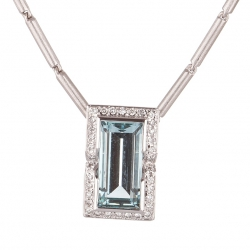 Pendant with Aquamarine