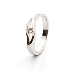 White gold ring with Diamond model nr. 0126