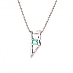 Modern Emerald pendant