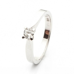 Platinum Engagement Ring with Diamond model nr. 0150