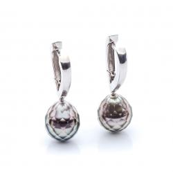 Earrings with Tahitien pearls model nr. 0069