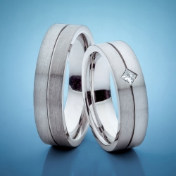 Wedding rings with Platinum and white gold model nr. SN27
