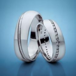 Platinum Wedding Rings with Diamonds model nr. SN25