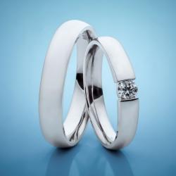 Platinum Wedding Rings with Diamonds model nr. SN1