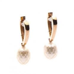 Earrings with faceted Pearls model nr. N0069