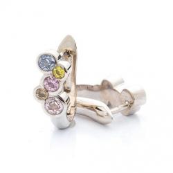 Earrings with multicolor sapphires model nr. N0073