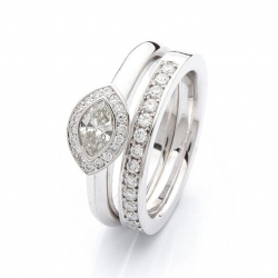 Engagement ring with diamonds model nr. 0173