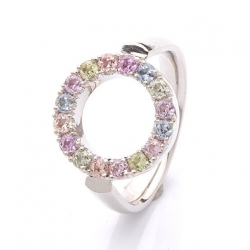 Ring with multicolor sapphires model nr. 0170