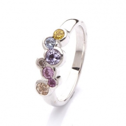 Ring with multicolor sapphires model nr. 0171