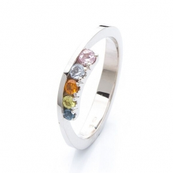 Ring with multicolor sapphires model nr. 0172