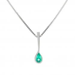 Pendant with Emerald model nr. 0228