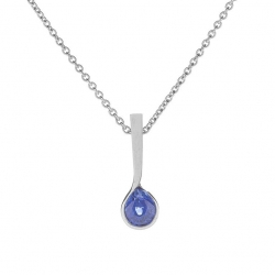 Pendant with sapphire model nr. 0228