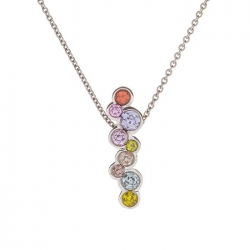 Necklace with multicolor sapphires model nr. 0229