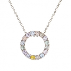 Necklace with multicolor sapphires model nr. 0230