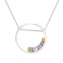 Pendant with multicolor sapphires model nr. 0232
