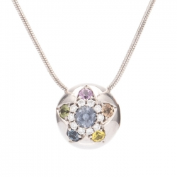 Pendant with multicolor sapphires model nr. 0234