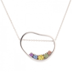 Pendant with multicolor sapphires model nr. 0233