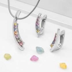 Set with Multicolor Sapphires model nr. N0083