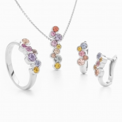 Set with Multicolor Sapphires model nr. 0171