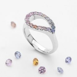 Ring with Multicolor Sapphires model nr. 0173
