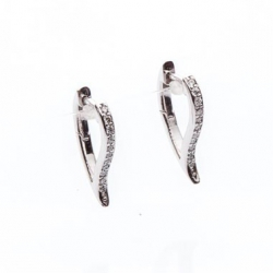 White Gold Earrings with Diamonds model nr. 0062